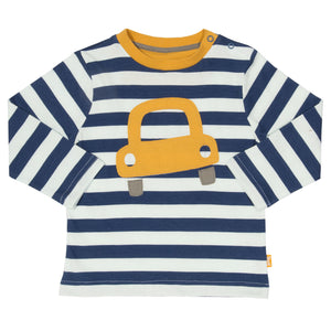 Appliqué Bubble car long sleeve T-Shirt