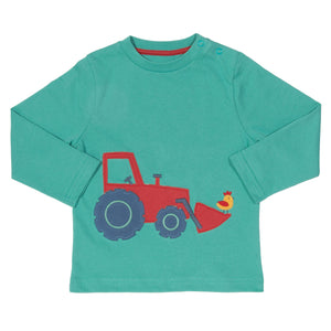 Appliqué Tractor long sleeve T-Shirt
