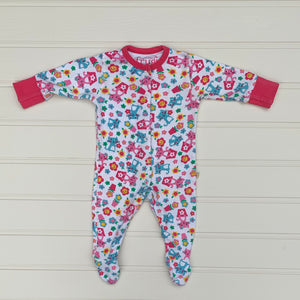 Gently Worn Frugi Flower sleepsuit size 0-3 months