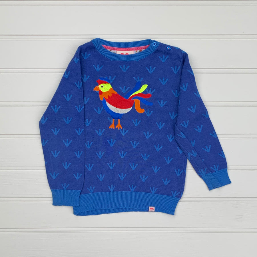 Hardly Worn Tootsa MacGinty hen cotton sweater size 5-6 years