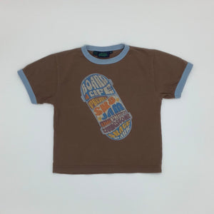 Gently Worn Boden brown t-shirt size 3-4 years