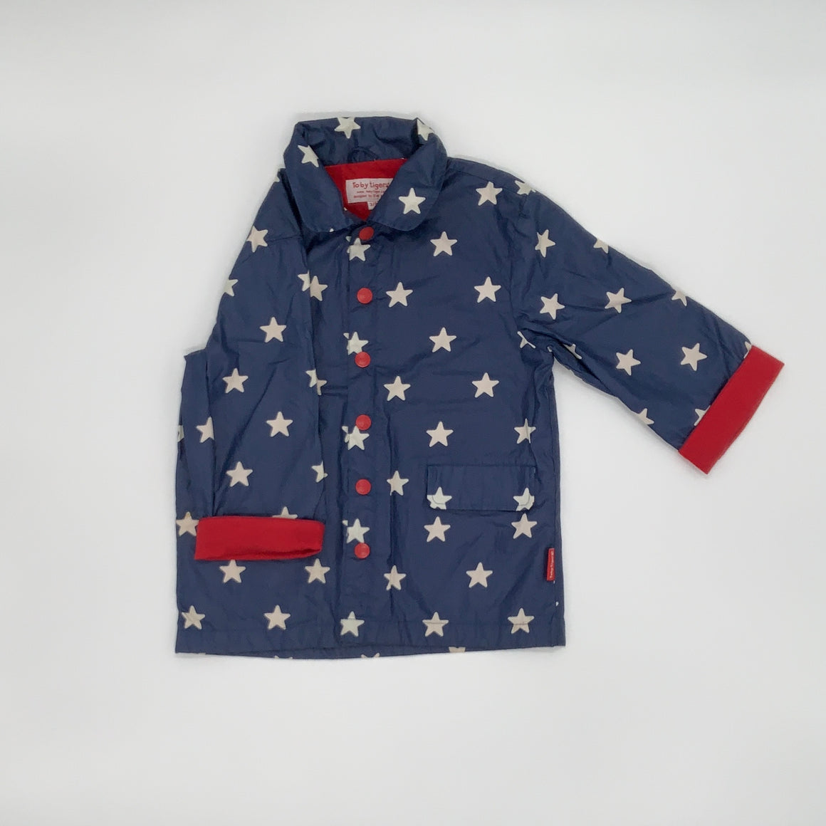 Gently Worn Toby Tiger star raincoat size 3-4 years