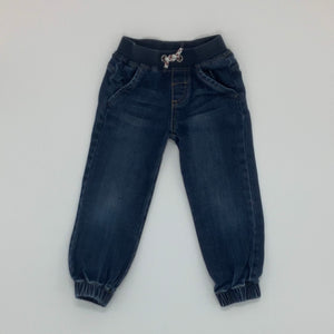 Hardly Worn Joules denim pull-ups size 2-3 years