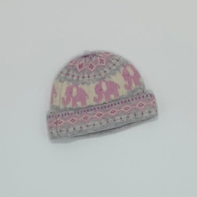 Gently Worn Jojo Maman Bebe knitted beanie size 0-3 months