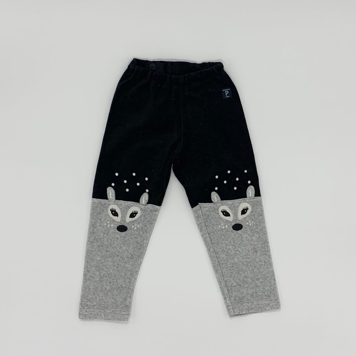 Needs TLC Polarn O Pyret velour leggings size 2-3 years
