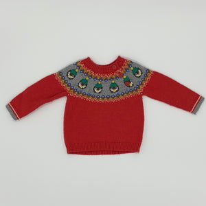 Needs TLC Boden penguin jumper size 6-12 months