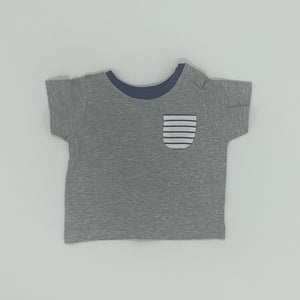 Hardly Worn Boden grey t-shirt size 0-3 months