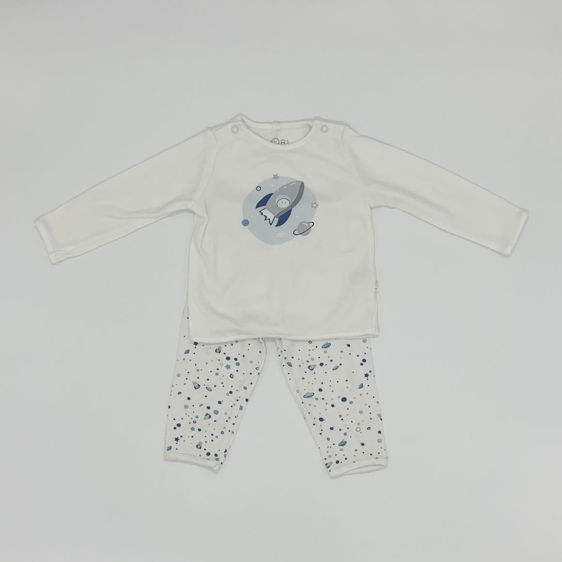 Hardly Worn Baby Mori space set size 6-9 months