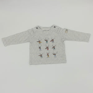 Gently Worn Joules reindeer top size 9-12 months