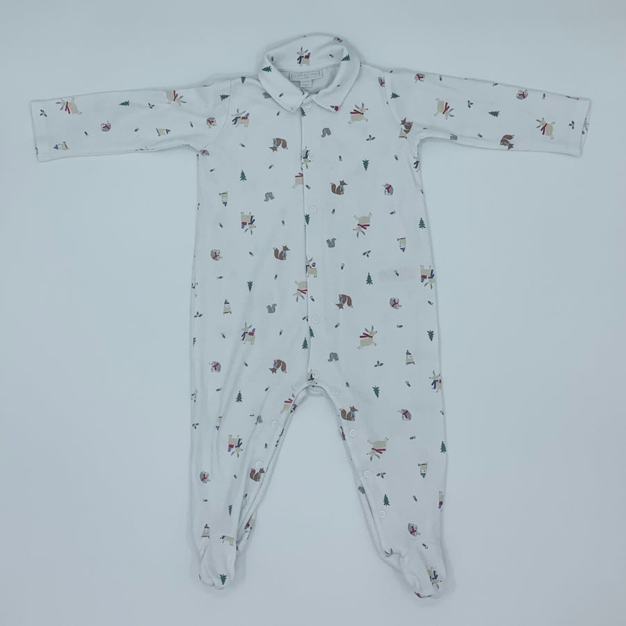 Hardly Worn The White Company festive sleepsuit size 12-18 months