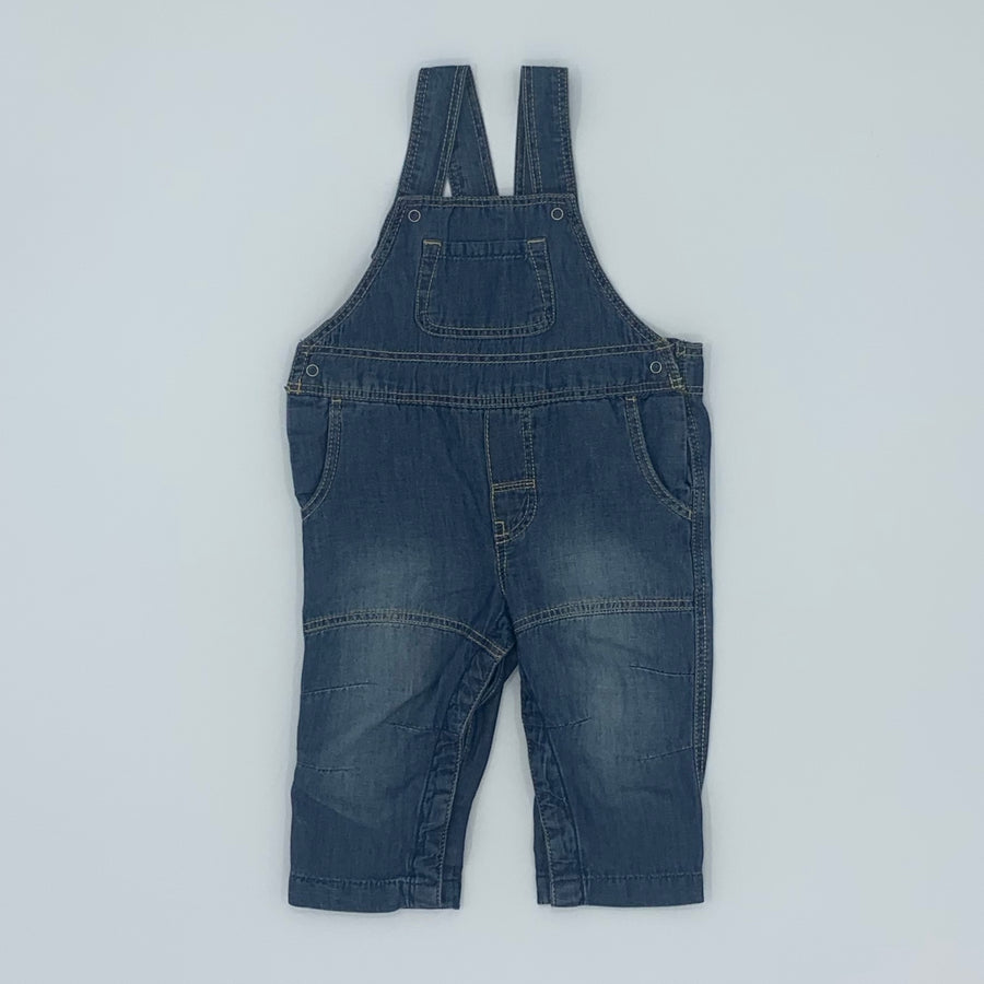 New Polarn O Pyret denim dungarees size 4-6 months