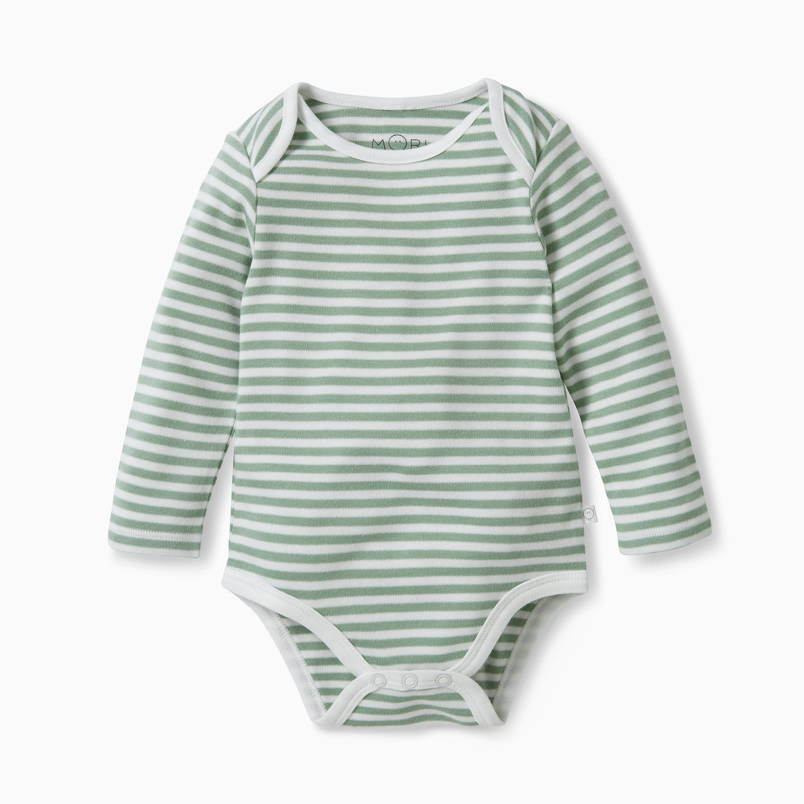 Long Sleeve Bodysuit in Sage Stripe