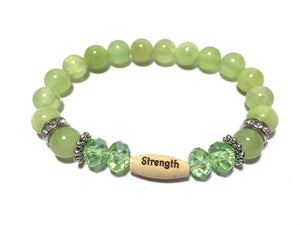 Jade Gemstone Inspirational Balancing Strength Bracelet