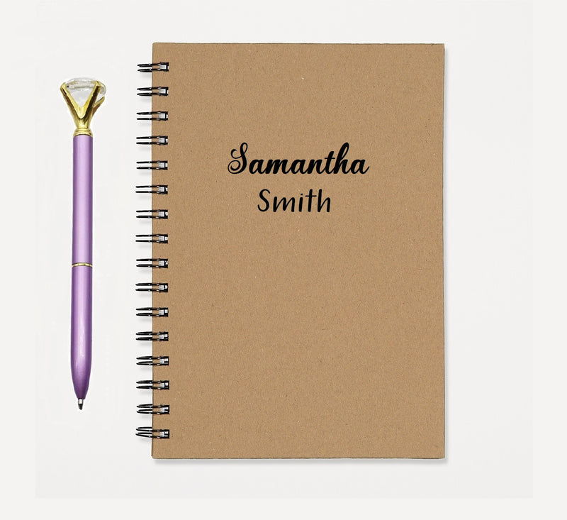 PERSONALIZED Name Note Book Diary Journal