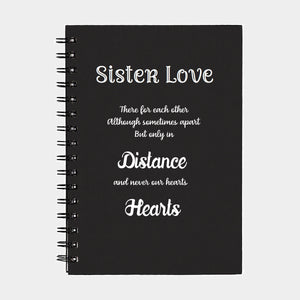 PERSONALIZED Journal SISTER LOVE Diary Journal