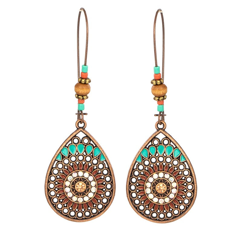 Beaded Bohemian Drop Boho Vintage Aztec Earrings
