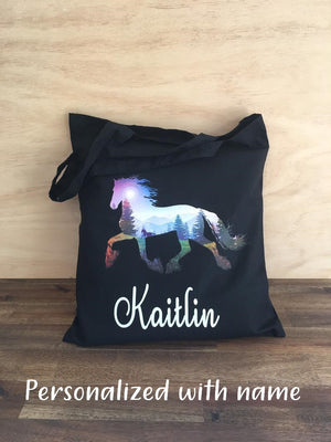 Cotton Carry Bag SUNSET HORSE Shopping Shoulder Bag Eco Friendly