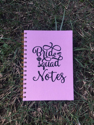 Bride Squad Planner BRIDE TO BE Notebook BRIDESMAID Diary