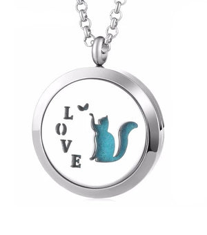 Essential Oil Aromatherapy Pendant Cat Love