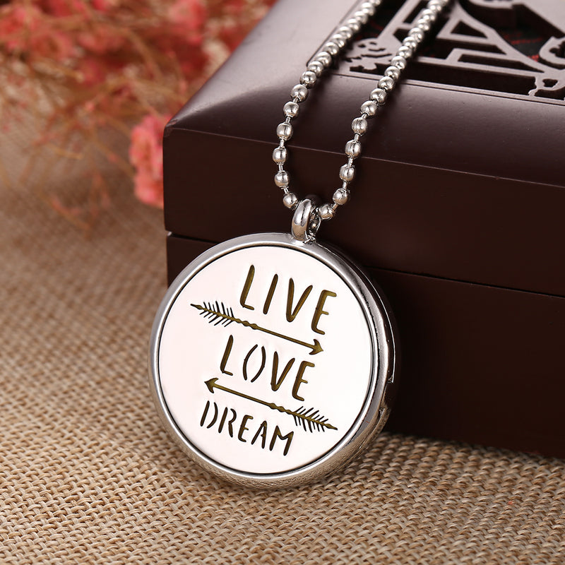 Essential Oil Aromatherapy Pendant Live Love Dream
