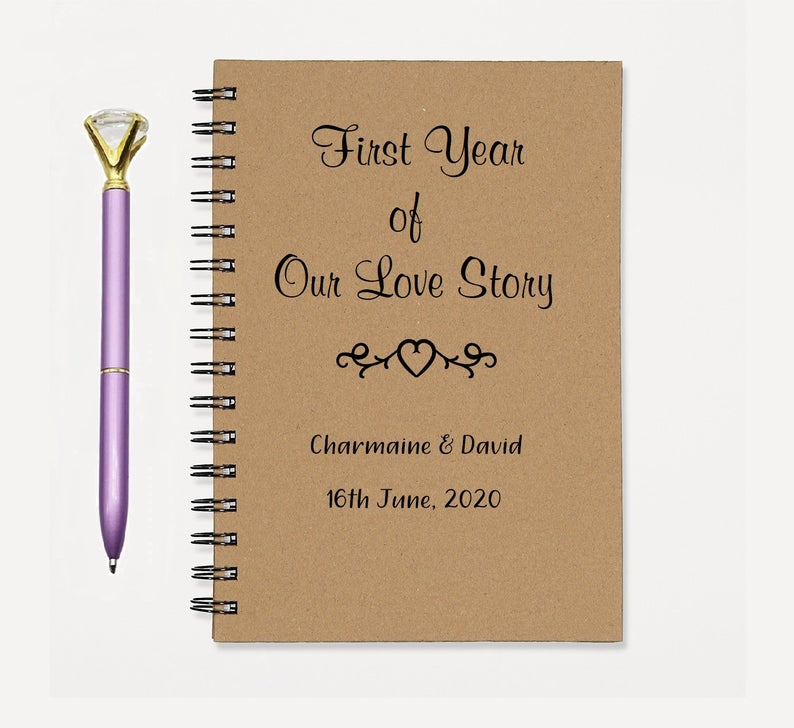 PERSONALIZED First Year Note Book Journal Diary Journal Memory