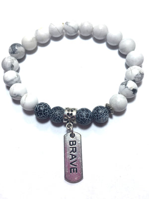 Dragon Vein Inspirational Gemstone Beaded Bracelet