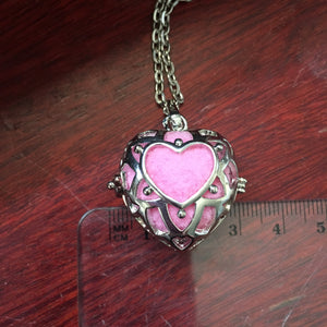 Essential Oil Aromatherapy Cage Rose Gold Heart Pendant