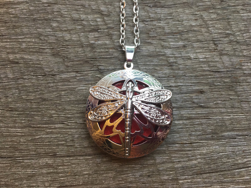 Essential Oil Aromatherapy Pendant Dragonfly