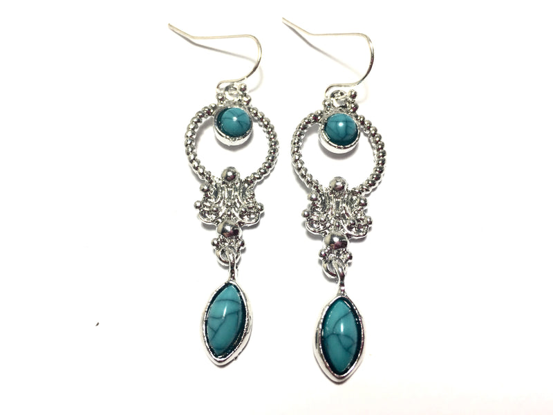Turquoise Boho Gemstone Earrings