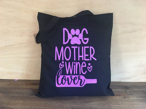 Cotton Carry Bag DOG MOTHER Shopping Shoulder Bag Eco Friendly