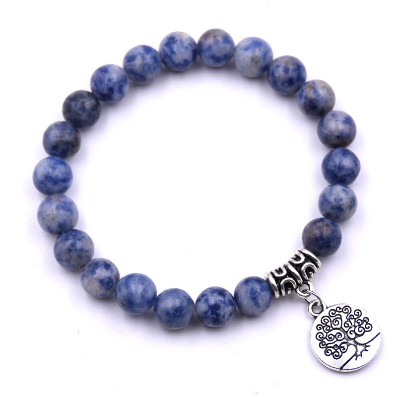 Tree of Life Charm Sodalite Gemstone Bracelets