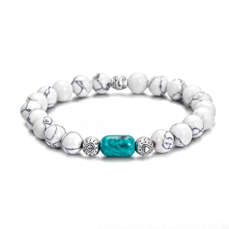 Turquoise and Howlite Gemstone Bracelet