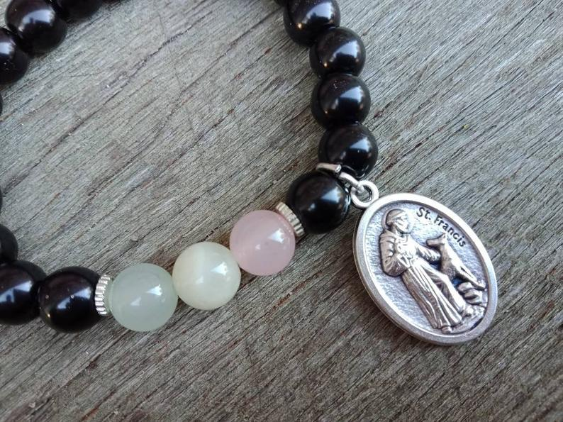 St Francis of Assisi Patron Saint of Animals Catholic Bracelet
