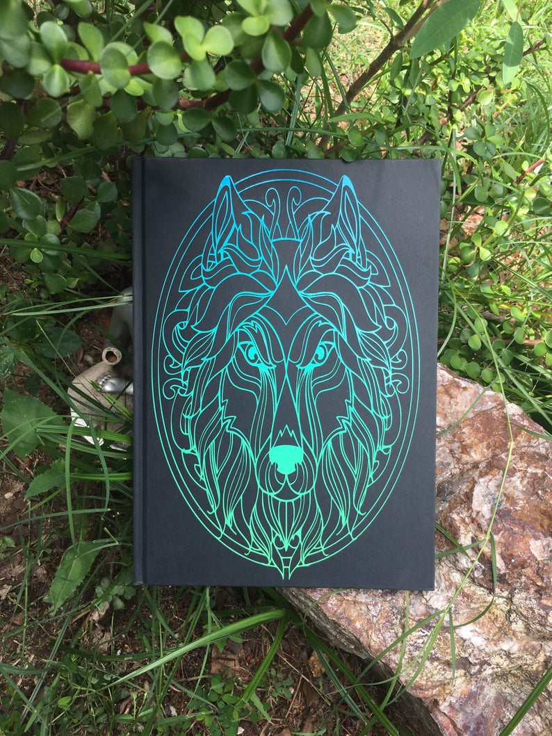 Wolf Head A4 Notebook Journal PERSONALIZED Diary