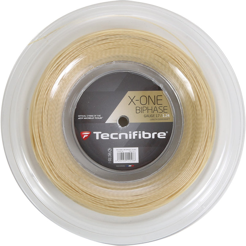 Tecnifibre X-ONE Biphase 17 Tennis String Reel-200m - Smash Nation