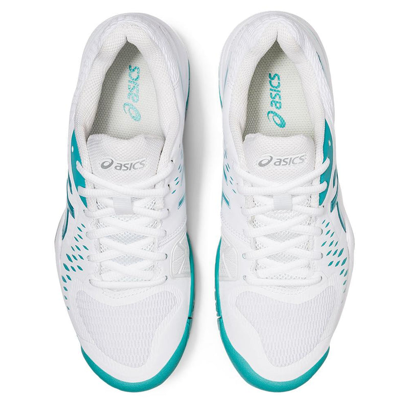 Asics Women's Gel-Challenger 12 Tennis Shoes (White/Techno Cyan)