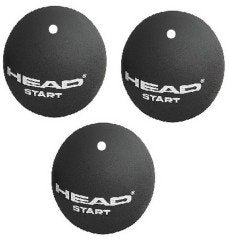 Head Start White Dot Squash Balls Tube of 3 - Smash Nation