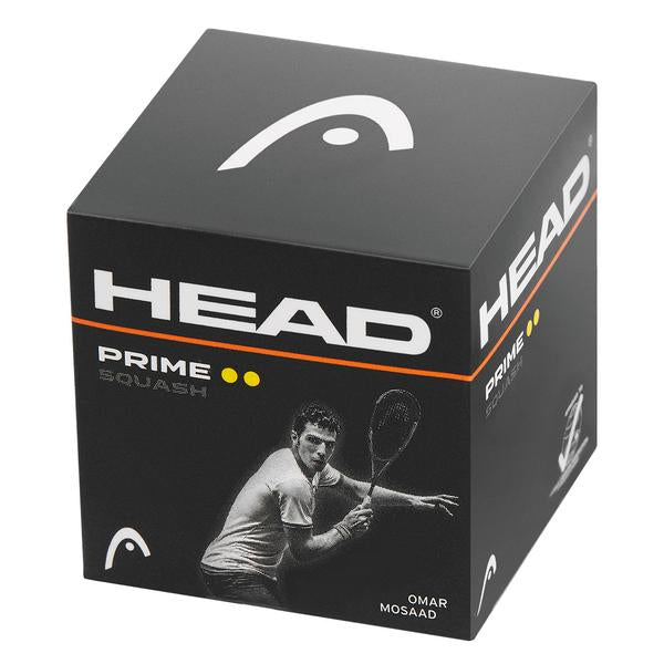 Head Prime Double Yellow Dot Squash Single Ball - Smash Nation