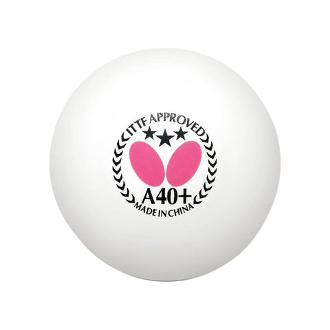 Butterfly A40+ 3-Star Table Tennis Ball White - Smash Nation
