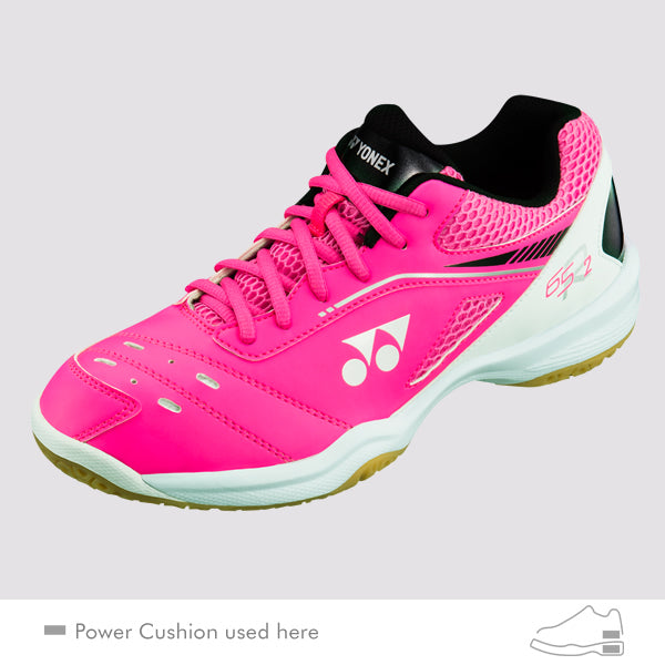 Yonex Power Cushion 65R2 Ladies Badminton Shoes [Pink] - Smash Nation