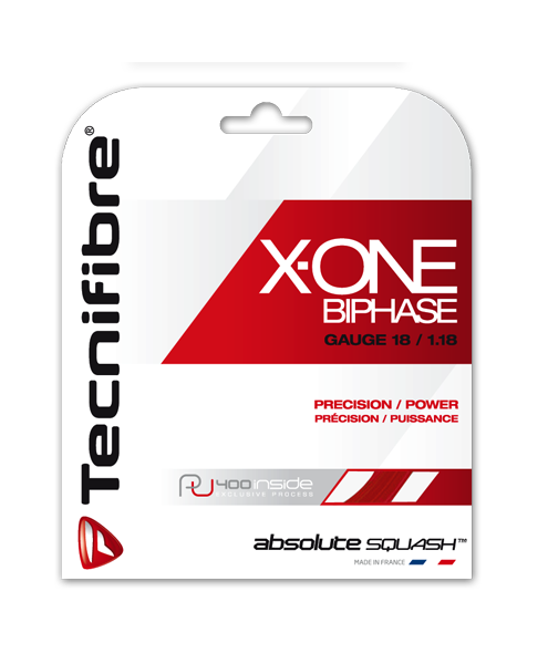 Tecnifibre X-ONE Biphase 18 Squash String - Smash Nation