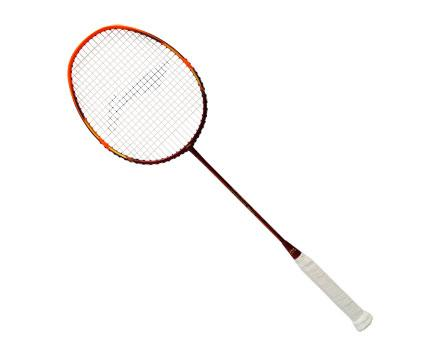 Li-Ning Windstorm-78SL Strung Badminton Racket (Red/Orange) [AYPM288] - Smash Nation