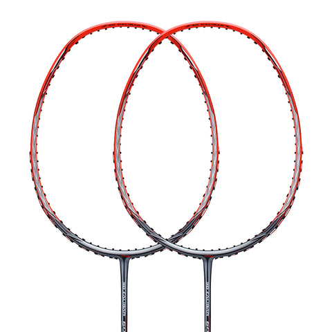 Li-Ning 3D Calibar 600B(90IV TD) Badminton Racket Frame (Red/Grey) [AYPM402] - Smash Nation