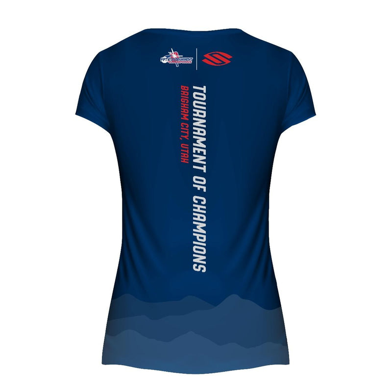 LIMITED EDITION SELKIRK TOC BLUE WOMEN'S SHORT SLEEVE PERFORMANCE V-NECK - Smash Nation