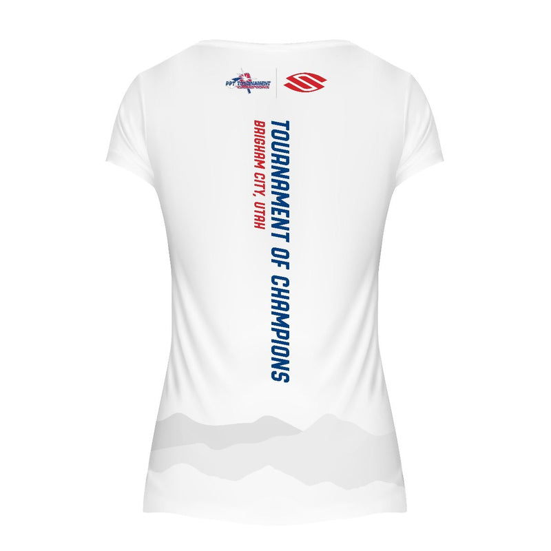 LIMITED EDITION SELKIRK TOC WHITE WOMEN'S SHORT SLEEVE PERFORMANCE V-NECK - Smash Nation