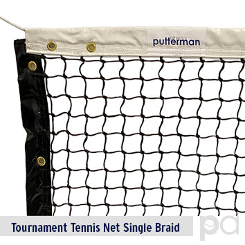 Putterman Tournament Tennis Net – Single Braid