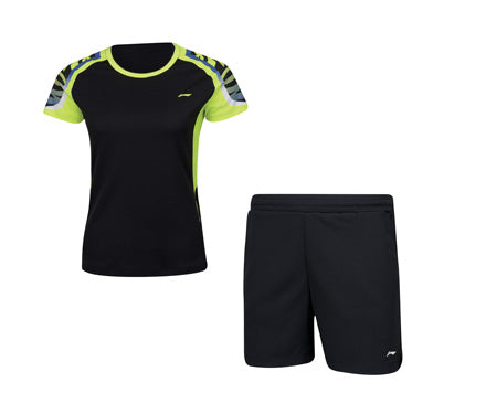 WOMEN'S BADMINTON UNIFORM [BLK] AATN004-2 - Smash Nation