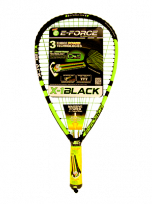 E-Force X-1 Black Racquetball Racket - Smash Nation