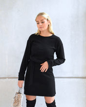 Load image into Gallery viewer, BOSTON knitted dress black