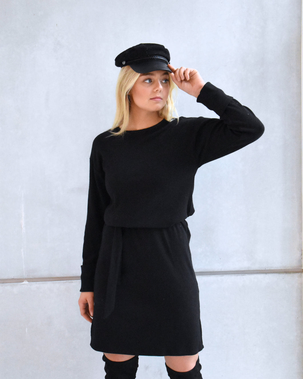 BOSTON knitted dress black